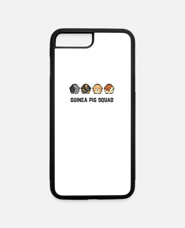 Guinea Pig iPhone Cases - Cute Cavy Guinea Pig Rodent Team Squad - iPhone 7 & 8 Plus Case white/black