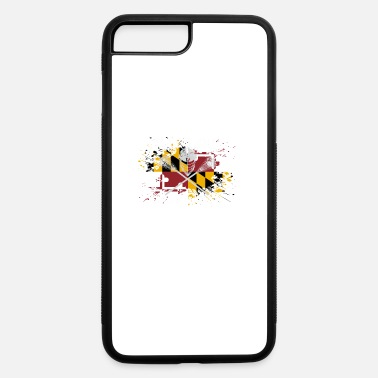 Flag Stick Maryland Lacrosse Dad Sticks Crossed Lax Flag - iPhone 7 & 8 Plus Case