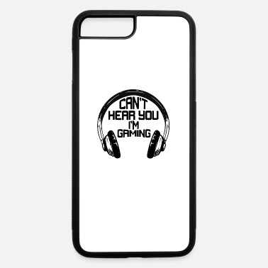 Play Station Can't hear you I'M gaming black on white - iPhone 7 & 8 Plus Case
