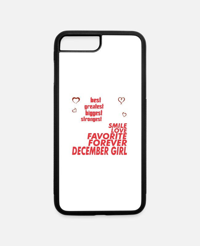 December iPhone Cases - My Girlfriend Is December Girl - iPhone 7 & 8 Plus Case white/black