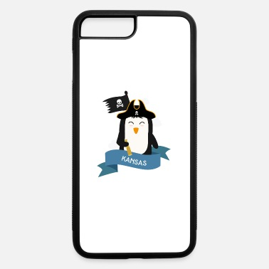 Catamarancharter Penguin Pirate Captain from KANSAS Spqhly - iPhone 7 & 8 Plus Case