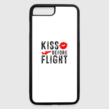 Flight Attendant Kiss before Flight - Aviation Flight Attendant - iPhone 7 Plus/8 Plus Rubber Case