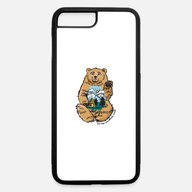 Ginette Guiver happy belly bear - iPhone 7 & 8 Plus Case