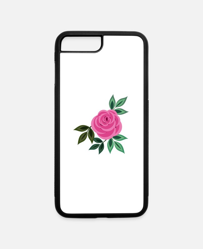 Take iPhone Cases - Rose 20 (pink) - iPhone 7 & 8 Plus Case white/black