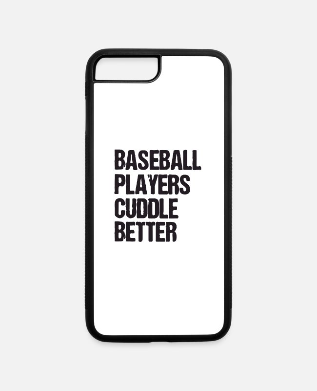 Catcher iPhone Cases - baseball players cuddle better - iPhone 7 & 8 Plus Case white/black