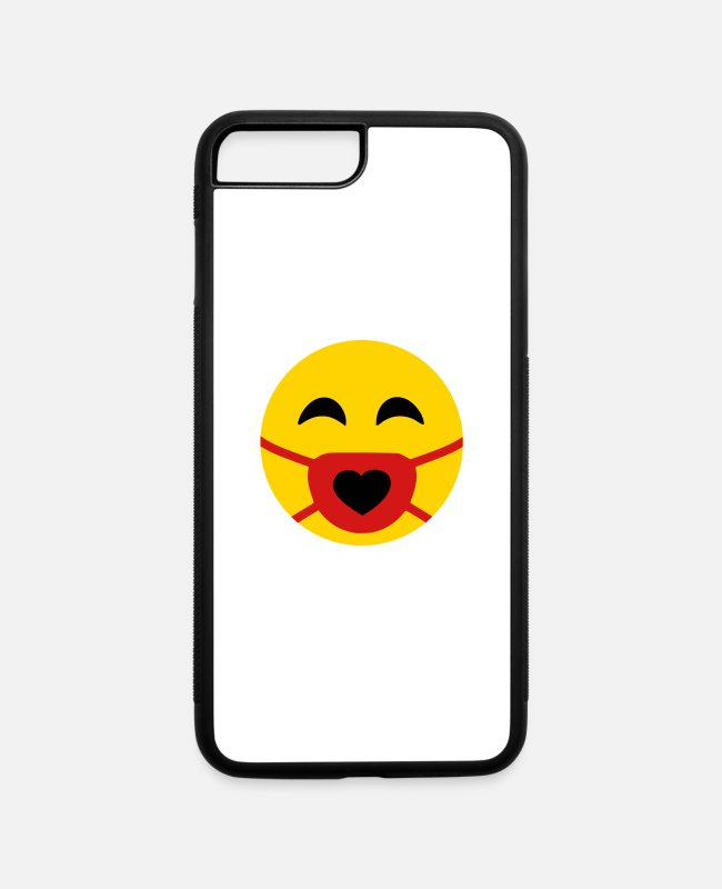 Wearing iPhone Cases - I Love wearing a Mask for my and others' safety - iPhone 7 & 8 Plus Case white/black