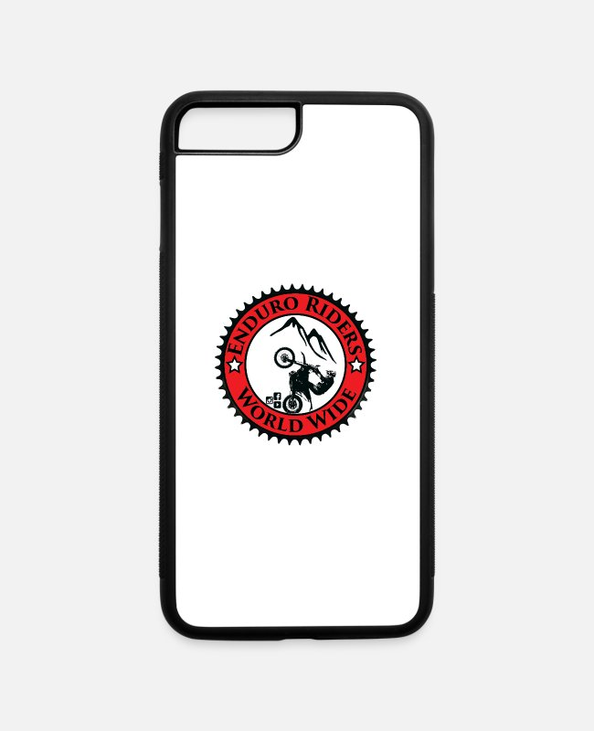 Fmx iPhone Cases - Enduro Riders WorldWide - iPhone 7 & 8 Plus Case white/black