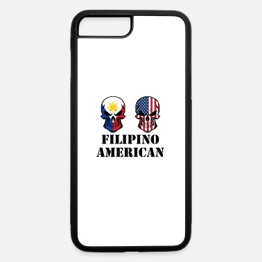 Skull Filipino Flag Filipino American Flag Skulls - iPhone 7 & 8 Plus Case