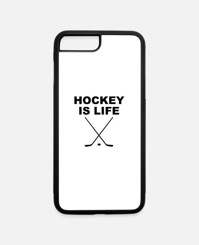 Ball iPhone Cases - Hockey Is Life - iPhone 7 & 8 Plus Case white/black