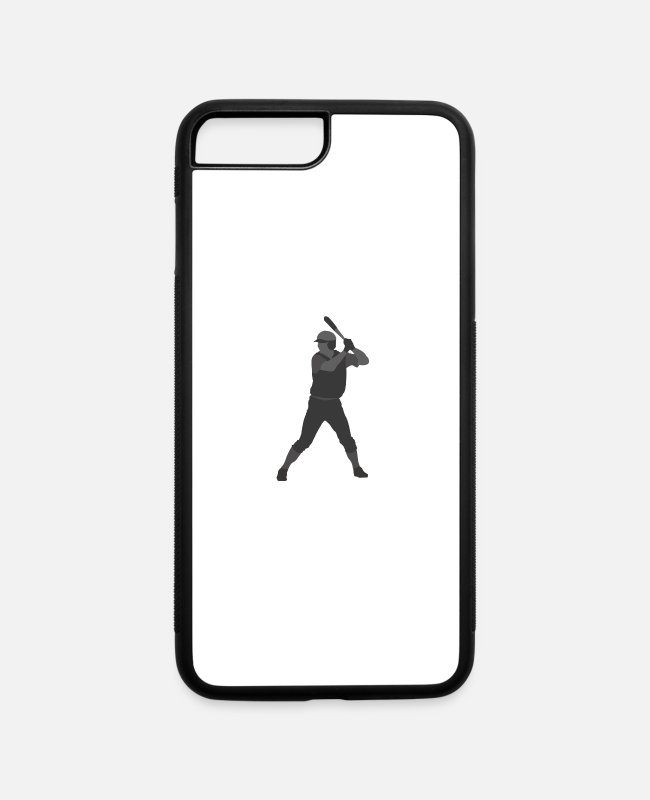 Player iPhone Cases - Baseball Player - iPhone 7 & 8 Plus Case white/black