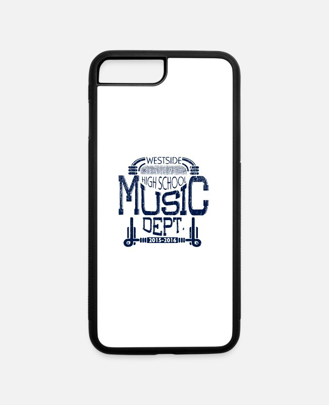 Game iPhone Cases - Westside High School Music Dept - iPhone 7 & 8 Plus Case white/black