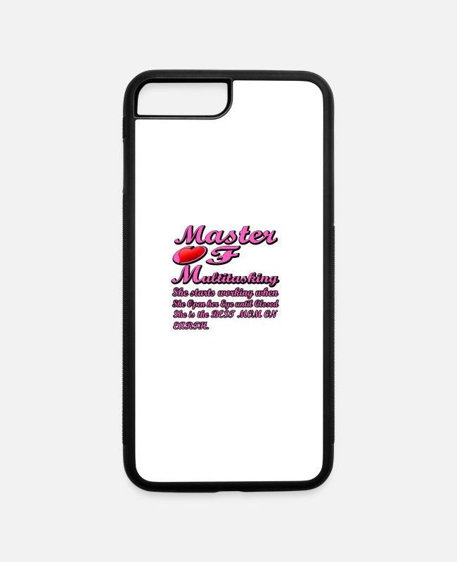 Master iPhone Cases - MOM Master of Multitasking T-shirt - iPhone 7 & 8 Plus Case white/black