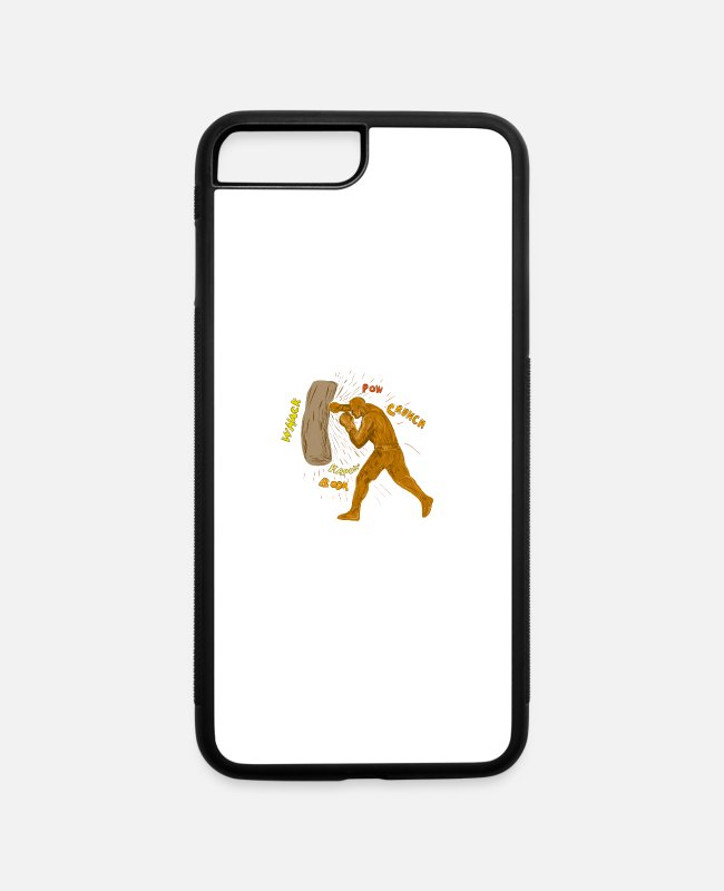 Drawing iPhone Cases - Boxer Hitting Punching - iPhone 7 & 8 Plus Case white/black
