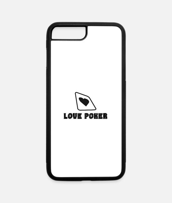 Vegas iPhone Cases - Poker Love | Poker night gambling casino gift idea - iPhone 7 & 8 Plus Case white/black