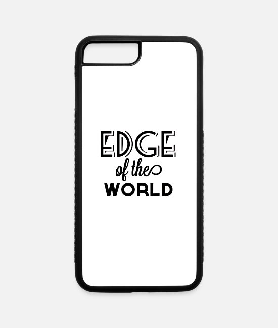 Style Of Music iPhone Cases - Edge of the world style - iPhone 7 & 8 Plus Case white/black