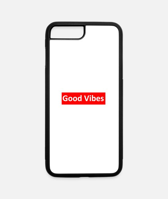 Vibes iPhone Cases - Good Vibes - iPhone 7 & 8 Plus Case white/black