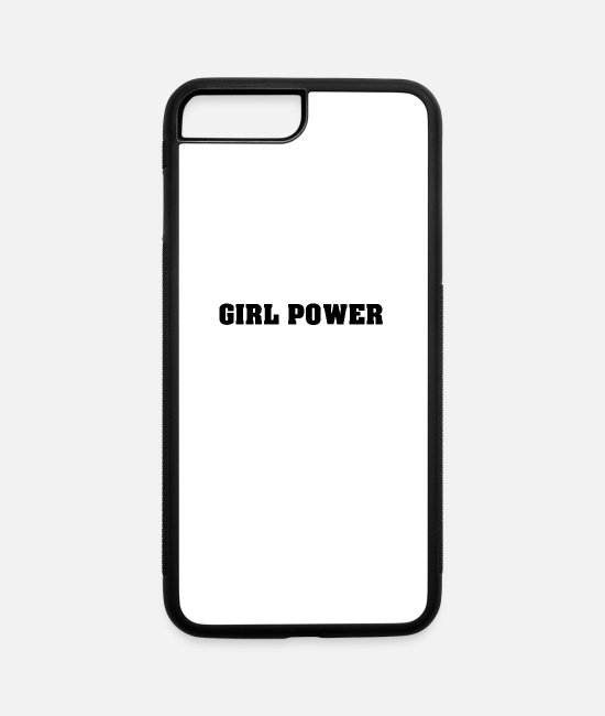 Power Ballads iPhone Cases - Girl Power - iPhone 7 & 8 Plus Case white/black