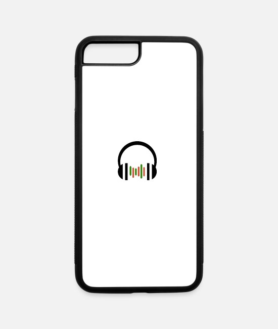 Headphones iPhone Cases - Music Headphones - iPhone 7 & 8 Plus Case white/black