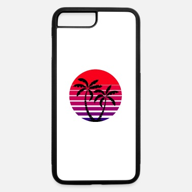 Sun Sun Sunset Palm Trees Palms Ocean Sea Retro 80s - iPhone 7 & 8 Plus Case