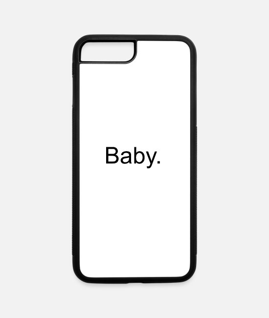 Baby Bump iPhone Cases - baby - iPhone 7 & 8 Plus Case white/black