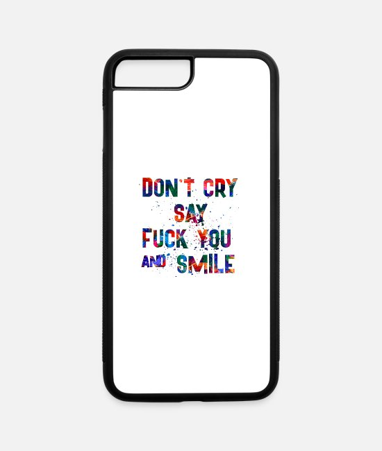 Quote iPhone Cases - SMILE - iPhone 7 & 8 Plus Case white/black