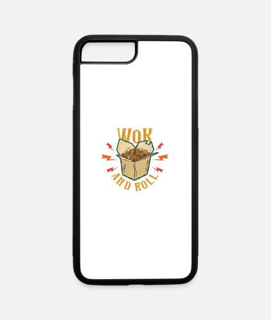 Hamburger iPhone Cases - Wok and roll - iPhone 7 & 8 Plus Case white/black