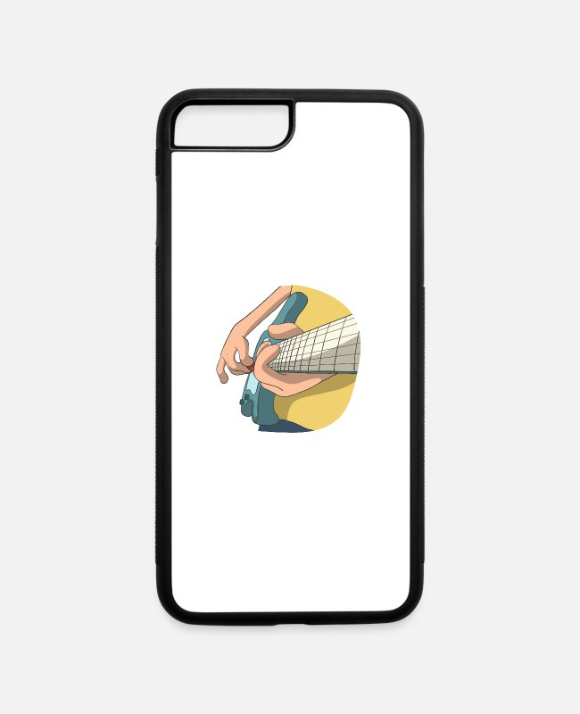 Rock iPhone Cases - Guitar Electric Perspective - iPhone 7 & 8 Plus Case white/black