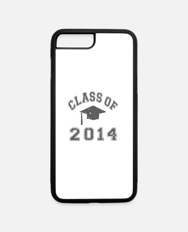 2014 Graduation iPhone Cases - Class Of 2014 Graduation - iPhone 7 & 8 Plus Case white/black