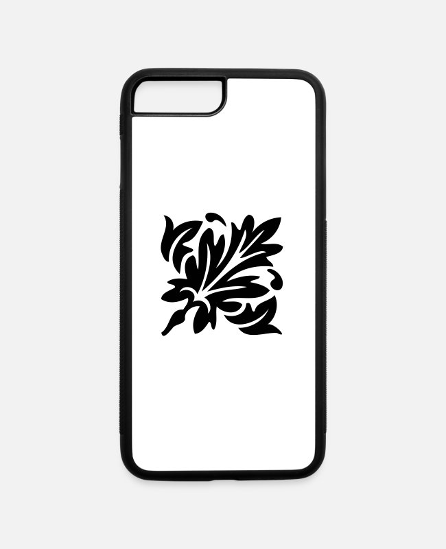 Pattern iPhone Cases - Floral design 73 - iPhone 7 & 8 Plus Case white/black
