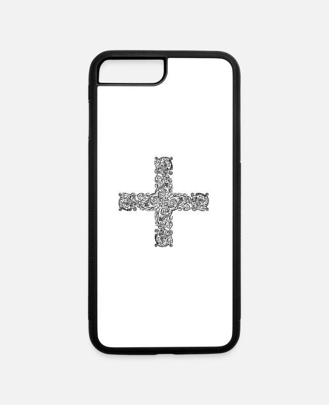 Help iPhone Cases - Ornamental cross 25 - iPhone 7 & 8 Plus Case white/black