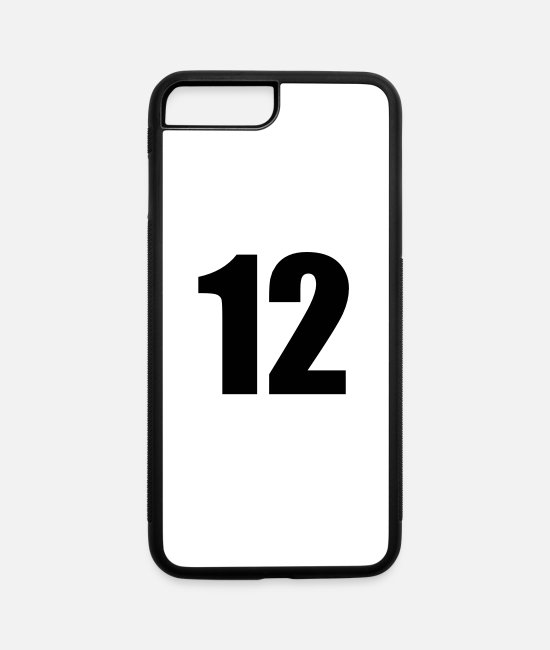 Age Number iPhone Cases - Number Twelve - iPhone 7 & 8 Plus Case white/black