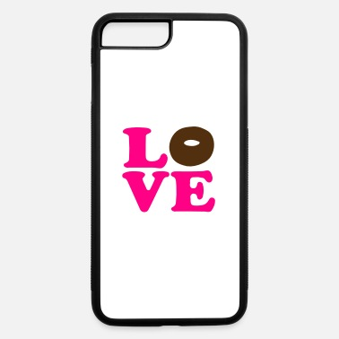 Vector Most Loved Fast Food Design Cakes Breads ♥ټLove Choco Doughnut-Heavenly Donutټ♥ - iPhone 7 & 8 Plus Case