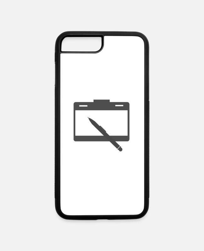 Prison iPhone Cases - Notepad and pen - iPhone 7 & 8 Plus Case white/black