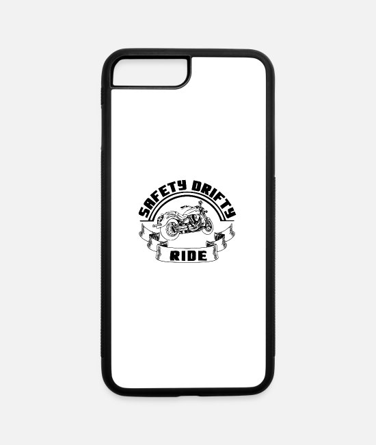 Motorcycle iPhone Cases - Safety Drifty Ride Biker Bike Motor sport - iPhone 7 & 8 Plus Case white/black