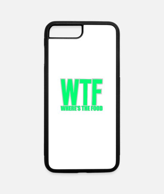 Food Chain iPhone Cases - WHERE IS THE FOOD - iPhone 7 & 8 Plus Case white/black