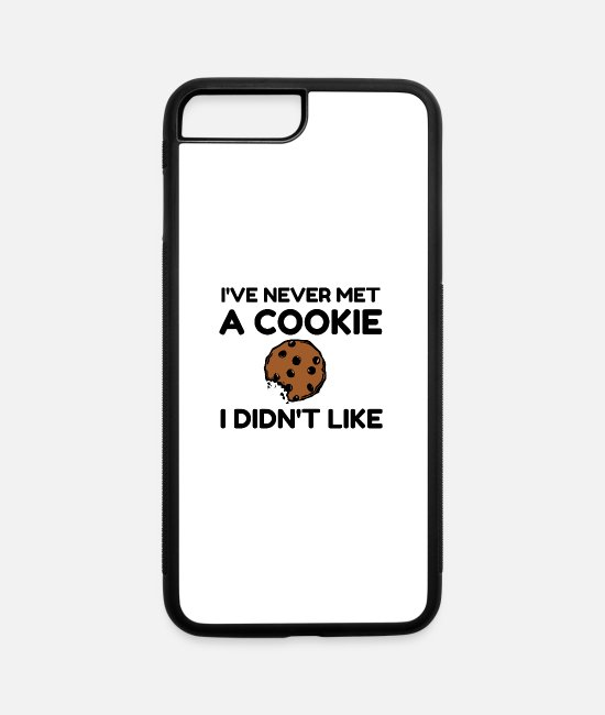 Cookie iPhone Cases - COOKIE LIKE - iPhone 7 & 8 Plus Case white/black