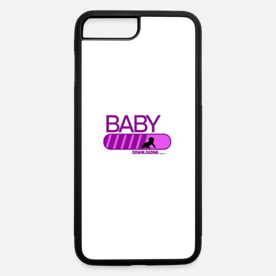 Love iPhone Cases - Baby is downloading for birth - iPhone 7 & 8 Plus Case white/black