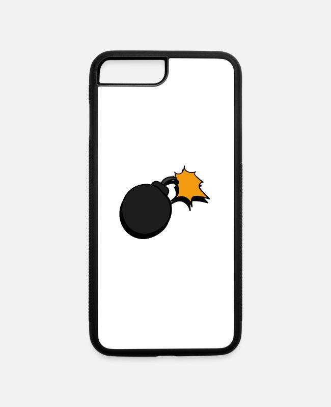Bombshell iPhone Cases - bomb - iPhone 7 & 8 Plus Case white/black