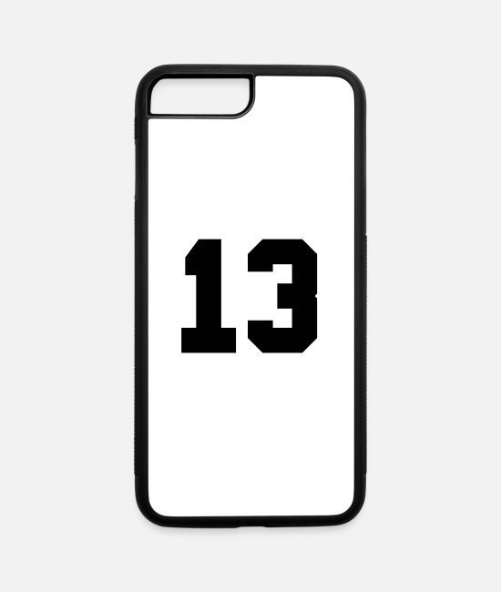 Number 13 iPhone Cases - Number 13 - iPhone 7 & 8 Plus Case white/black