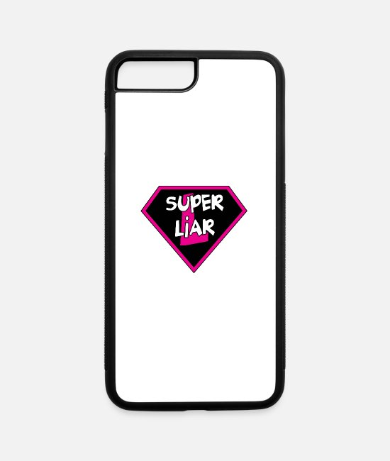 Jokes iPhone Cases - Super Liar - iPhone 7 & 8 Plus Case white/black