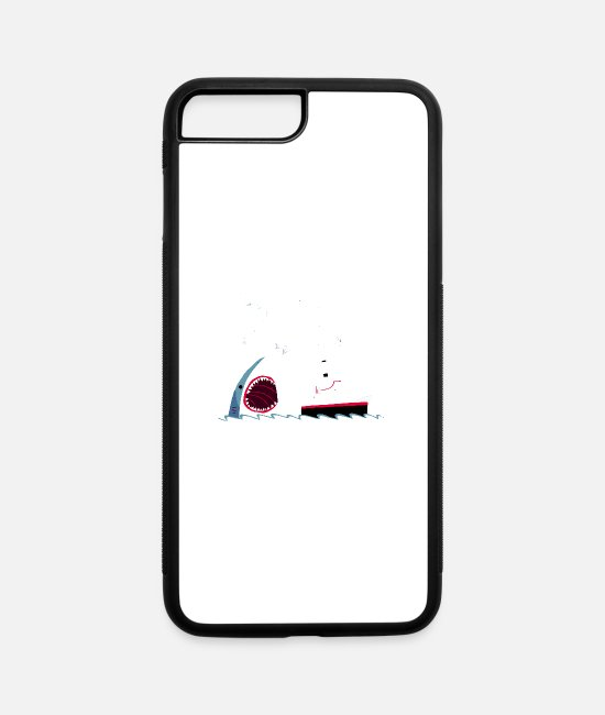 Jaws iPhone Cases - Polite Jaws - iPhone 7 & 8 Plus Case white/black