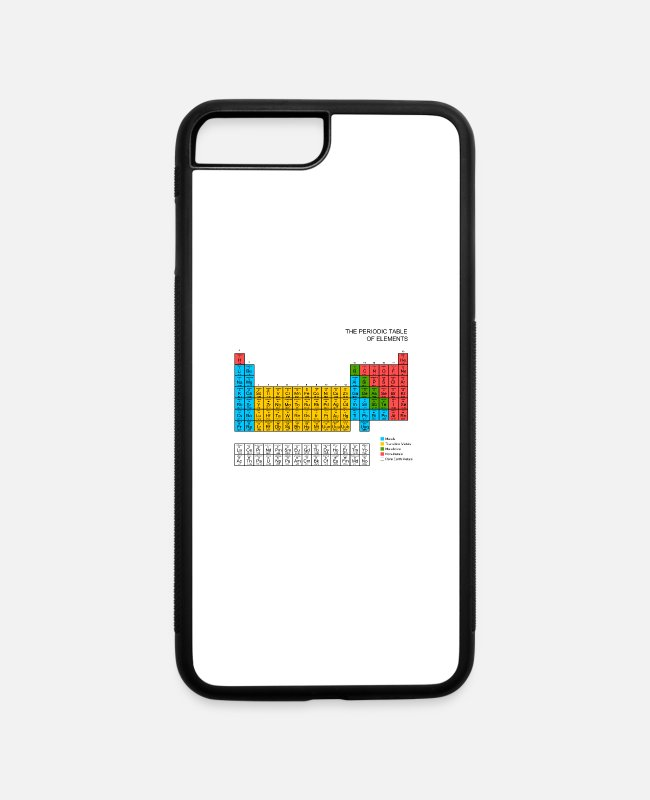 Periodic Table iPhone Cases - Periodic Table - iPhone 7 & 8 Plus Case white/black