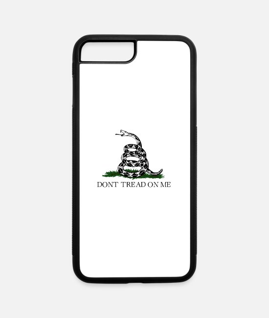 Guns iPhone Cases - Don't Tread On Me (Gadsden Flag) - iPhone 7 & 8 Plus Case white/black