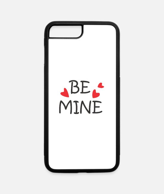 Pretty Pretty iPhone Cases - Be mine, on this Valentine's day. My heart waits - iPhone 7 & 8 Plus Case white/black