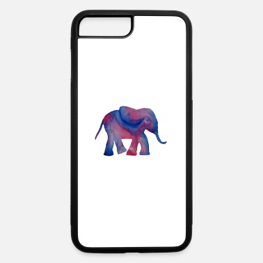 Original Painting Elephant Original Watercolor Hand Painted Gift - iPhone 7 & 8 Plus Case