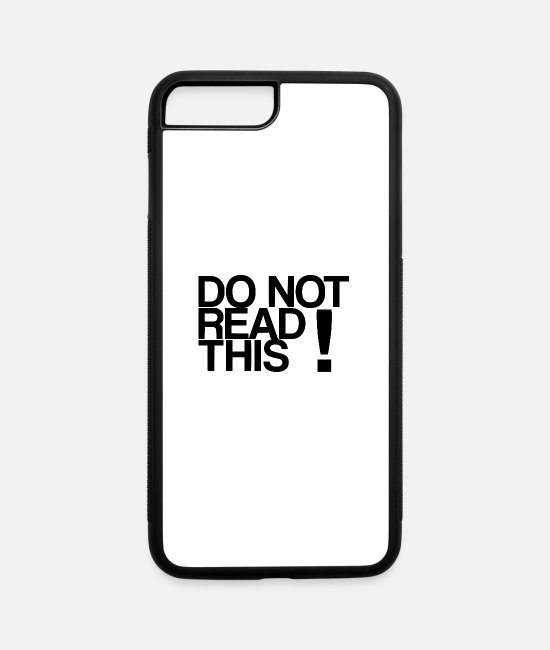 Learning iPhone Cases - do not read this - iPhone 7 & 8 Plus Case white/black