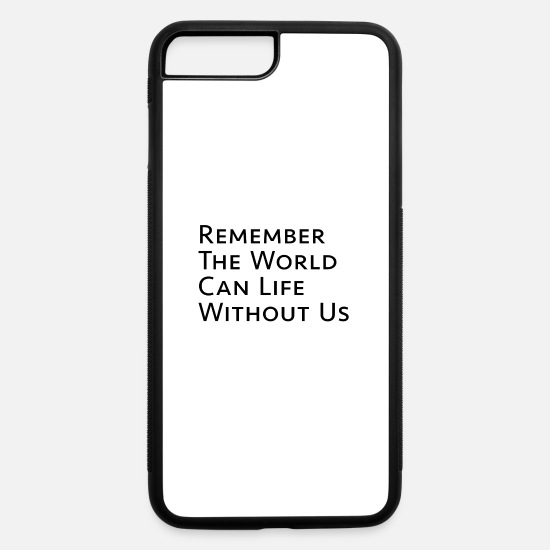 Gift Idea iPhone Cases - Climate change future eco eco saying Present - iPhone 7 & 8 Plus Case white/black