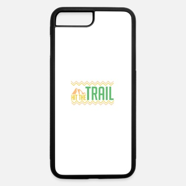 Sprinting Funny running jogging sprinting runner trail gift - iPhone 7 Plus/8 Plus Rubber Case