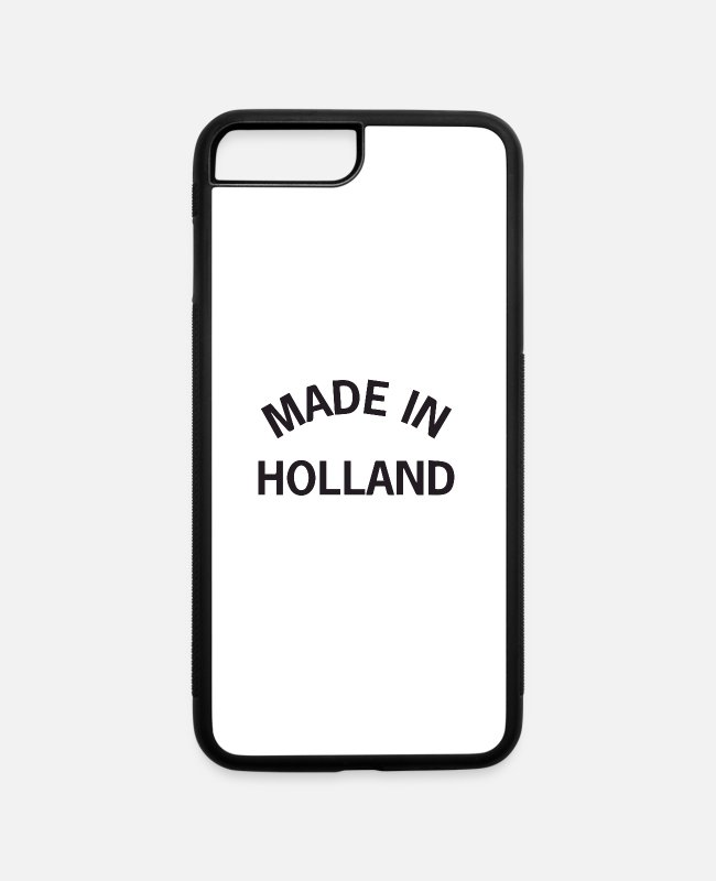 Mountains iPhone Cases - made in holland - iPhone 7 & 8 Plus Case white/black