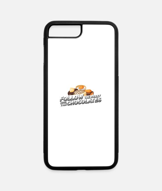 Hide iPhone Cases - Pralines eat gift Vielfrass hunger crook - iPhone 7 & 8 Plus Case white/black